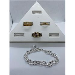 ONE LADIES 14KT YELLOW GOLD AND WHITE GOLD DIAMOND SET DRESS OR ENGAGEMENT RING