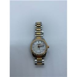 ONE LADIES STAINLESS STEEL AND 18KT ROSE GOLD AND ROSE GOLD PLATED DIAMOND SET LONGINES COQUEST