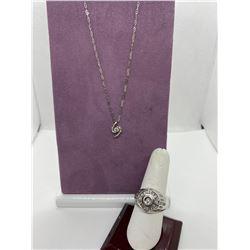 ONE 10KT WHITE GOLD DIAMOND SET GENTS DRESS RING, REP VAL $1,800.00, ONE 9KT WHITE GOLD DIAMOND SET