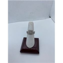 ONE LADIES 14KT YELLOW GOLD AND WHITE GOLD  VINTAGE DIAMOND SET DRESS OR ENGAGEMENT RING