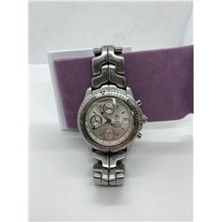 """ONE STAINLESS STEEL TAG HEUER GENTS WRIST WATCH.  """"LINK"""" REPLACEMENT VALUE $5,600.00"""