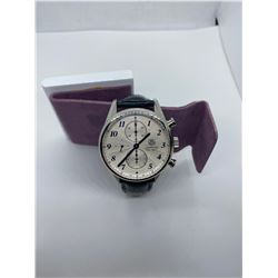 ONE STAINLESS STEEL TAG HEUER CARRERA CALIBRE 1887 GENTS WRIST WATCH, REPLACEMENT VALUE $3,900.00