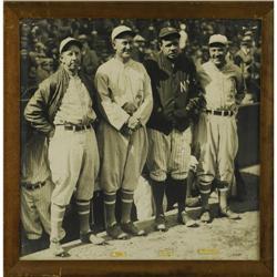 """1928 Collins, Cobb, Ruth & Speaker Large Photo"""