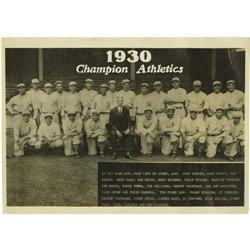 1930 Philadelphia Athletics Panoramic Photograph