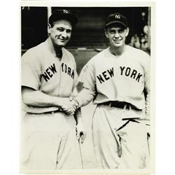 1939 Lou Gehrig's Streak Ends Wire Photograph
