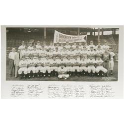 1952 Brooklyn Dodgers Panoramic Photograph