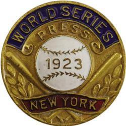 1923 World Series (New York Yankees) Press Pin