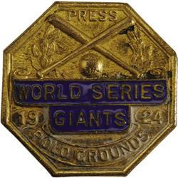 1924 World Series (New York Giants) Press Pin