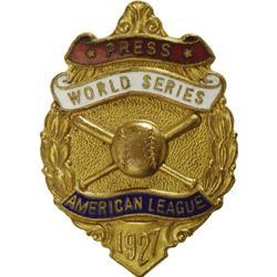 1927 World Series (New York Yankees) Press Pin