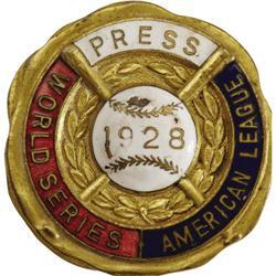 1928 World Series (New York Yankees) Press Pin