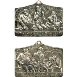 1930 & 1931 New York Giants Silver Season Passes
