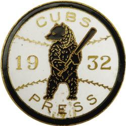 1932 World Series (Chicago Cubs) Press Pin