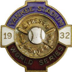 1932 World Series (New York Yankees) Press Pin