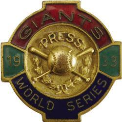 1933 World Series (New York Giants) Press Pin