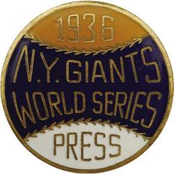 1936 World Series (New York Giants) Press Pin