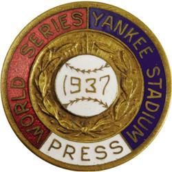 1937 World Series (New York Yankees) Press Pin