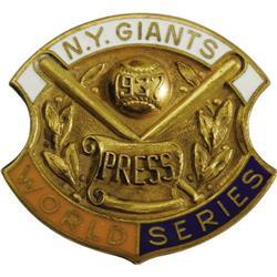 1937 World Series (New York Giants) Press Pin