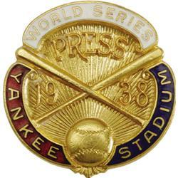 1938 World Series (New York Yankees) Press Pin