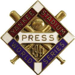 1941 World Series (New York Yankees) Press Pin