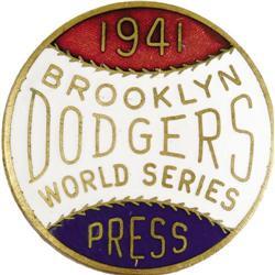 1941 World Series (Brooklyn Dodgers) Press Pin