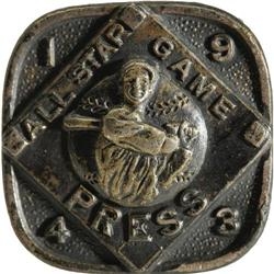 1943 All-Star Game Press Pin