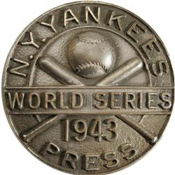 1943 World Series (New York Yankees) Press Pin