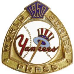 1950 World Series (New York Yankees) Press Pin