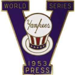 1953 World Series (New York Yankees) Press Pin