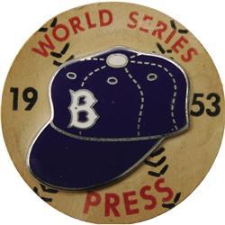 1953 World Series (Brooklyn Dodgers) Press Pin