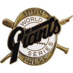 1954 World Series (New York Giants) Press Pin