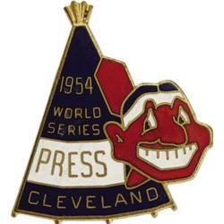 1954 World Series (Cleveland Indians) Press Pin