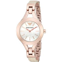 NEW EMPORIO ARMANI LADIES ROSEGOLD MOTHER-OF-PEARL