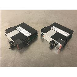 (2) ALLEN BRADLEY 1756-L72S LOGIX 5572S AUTOMATION CONTROLLER 4M/2M