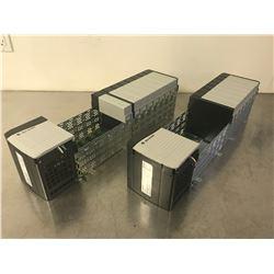 (2) ALLEN BRADLEY 1756-PA75/B POWER SUPPLY W/ 1756-A13 B 13 SLOT CHASSIS