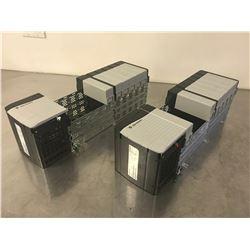 (2) ALLEN BRADLEY 1756-PA75/B POWER SUPPLY W/ 1756-A10 B 10 SLOT CHASSIS