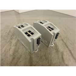 (2) Allen Bradley 1783-EMS08T/B Stratix 6000 Managed Switch 8-Port RJ45