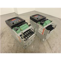 (2) Allen Bradley 222-D1P4N104 PowerFlex 40