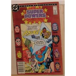 Very old good condition DC Comics Super Powers  #2 October 1986 - bande dessinée très vieille bonne