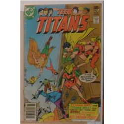 Very Old Used DC Teen Titans Volume 12 #51 November 1977 - bande dessinée vieille usagée