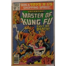 VERY OLD used Marvel Comics Master of Kung Fu Vol 1 #93 Oct 1980- bande dessinée très vieille usagée