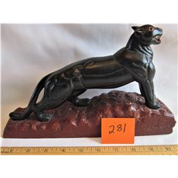 CARVED WOOD PANTHER