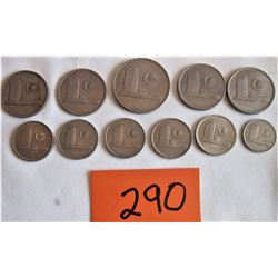 II MALAYSIA COINS - 1967 - 1981