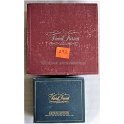 1983 TRIVIAL PURSUIT BOARDGAME BABY BOOMER MASTER EDITION, AND - TRIVIAL PURSUIT - GENUS EDITION