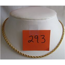 "BRAIDED GOLD CHAIN - 17"" - COSTUME JEWELRY"