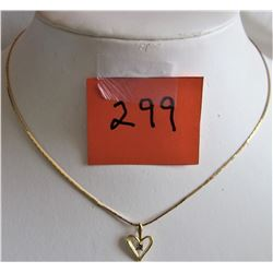 """HEAR SHAPED PENDANT - 18"""" CHAIN (THERMASET)"""