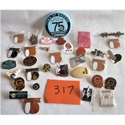 33 PIECES - BOWLING LAPEL PINS + OTHERS