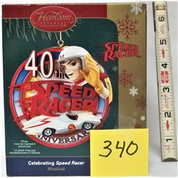 """HEIRLOOM ORNAMENT COLLECTION """"SPEED RACER"""" ANNIVERSARY MUSICAL"""