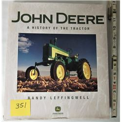 "12""X11"" h/c JOHN DEERE - ""HISTORY OF THE TRACTOR"" BOOK - DUST JACKET"