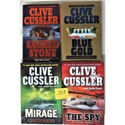4x CLIVE CUSSLER NOVELS (2X h/c, 2X s/c)