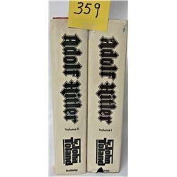 2- 1976 H/C adolf hitler vol 1+2 BY JOHN TOLAND, DUST JACKETS